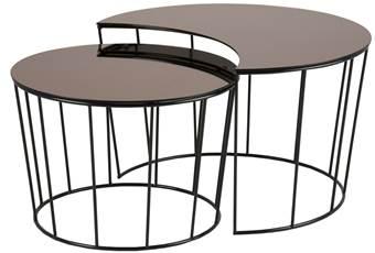 24designs-set-2-bijzettafel-sunny-zwart-metaal-brons-kleurig