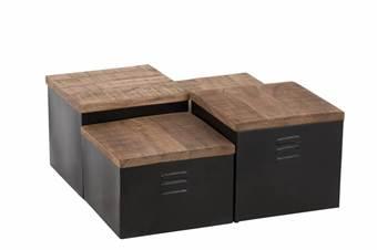 duverger-industry-bijzettafels-set-van-4-zwart-metaal-houten